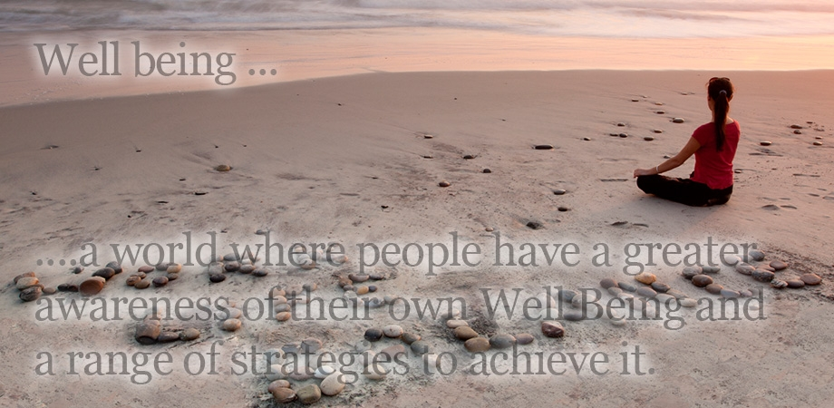 Wellbeing …….. a world where people have a greater awareness of their own Wellbeing and a range of strategies to achieve it.